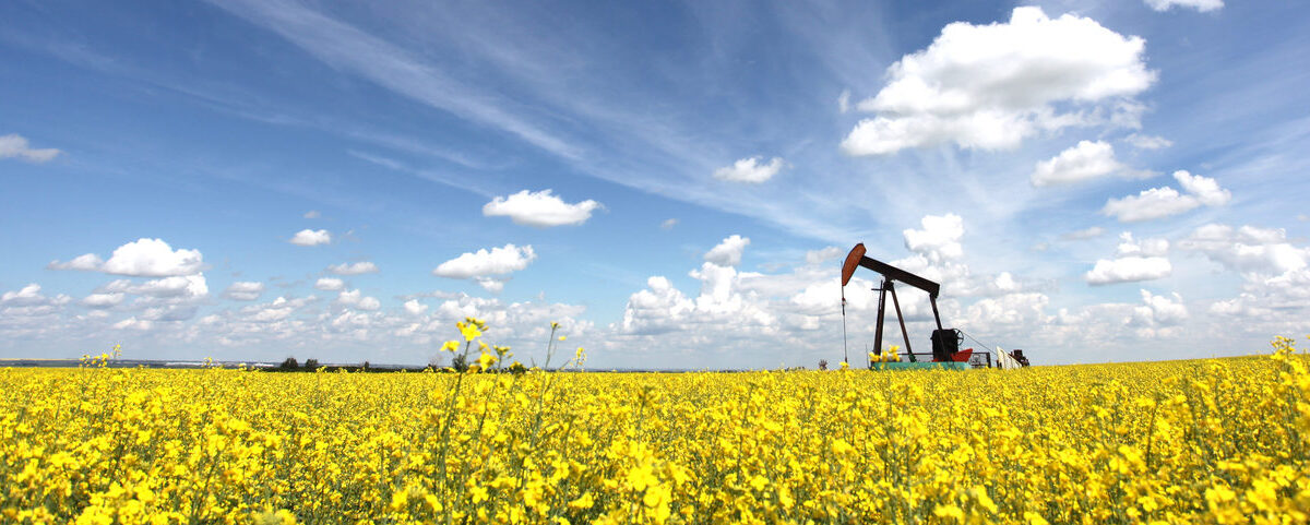Oil Pumpjack in Alberta Canada